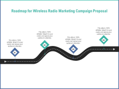 Radio Marketing Plan Product Launch Roadmap For Wireless Radio Marketing Campaign Proposal Topics PDF