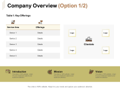Raise Capital For Business Company Overview Ppt Gallery Demonstration PDF