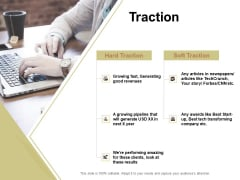 Raise Capital For Business Traction Ppt Professional Shapes PDF