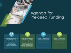 Raise Funding From Pre Seed Capital Agenda For Pre Seed Funding Designs PDF