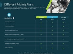 Raise Funding From Pre Seed Capital Different Pricing Plans Ideas PDF