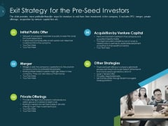 Raise Funding From Pre Seed Capital Exit Strategy For The Pre Seed Investors Diagrams PDF