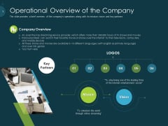 Raise Funding From Pre Seed Capital Operational Overview Of The Company Elements PDF