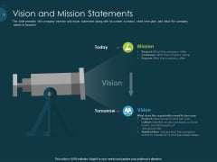 Raise Funding From Pre Seed Capital Vision And Mission Statements Clipart PDF