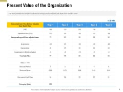 Raise Funding From Pre Seed Money Present Value Of The Organization Portrait PDF