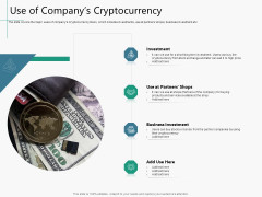 Raising Capital From Virtual Currency Initial Public Offering Use Of Companys Cryptocurrency Summary PDF