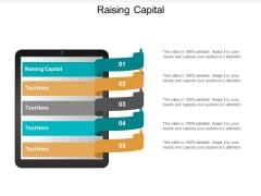 Raising Capital Ppt PowerPoint Presentation Portfolio Objects Cpb