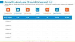 Raising Company Capital From Public Funding Sources Competitive Landscape Financial Comparison Graphics PDF