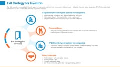Raising Company Capital From Public Funding Sources Exit Strategy For Investors Formats PDF