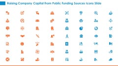 Raising Company Capital From Public Funding Sources Icons Slide Introduction PDF