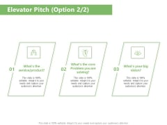 Raising Funds Company Elevator Pitch Option Ppt Examples PDF
