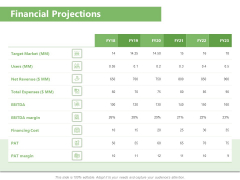 Raising Funds Company Financial Projections Ppt Visual Aids Portfolio PDF