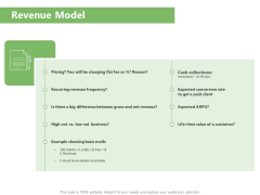 Raising Funds Company Revenue Model Ppt Professional Portfolio PDF