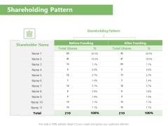 Raising Funds Company Shareholding Pattern Ppt Model Show PDF