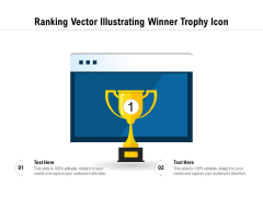 Ranking Vector Illustrating Winner Trophy Icon Ppt PowerPoint Presentation File Influencers PDF