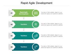 Rapid Agile Development Ppt PowerPoint Presentation Infographic Template Show Cpb