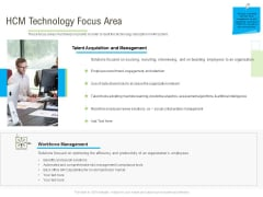 Rapid Innovation In HR Technology Space HCM Technology Focus Area Graphics PDF