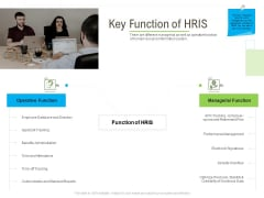 Rapid Innovation In HR Technology Space Key Function Of HRIS Brochure PDF