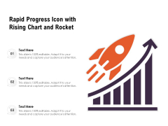 Rapid Progress Icon With Rising Chart And Rocket Ppt PowerPoint Presentation File Images PDF