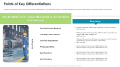 Ratan Tata Venture Capitalist Financing Pitch Deck Points Of Key Differentiations Themes PDF