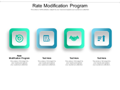 Rate Modification Program Ppt PowerPoint Presentation File Styles Cpb Pdf