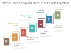 Rational Decision Making Model Ppt Sample Download