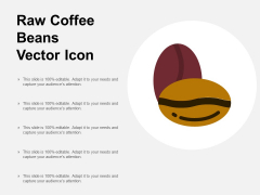 Raw Coffee Beans Vector Icon Ppt PowerPoint Presentation Pictures Files