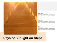 Rays Of Sunlight On Steps Ppt PowerPoint Presentation Layouts Model