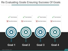 Re Evaluating Goals Ensuring Success Of Goals Ppt PowerPoint Presentation Slide Download