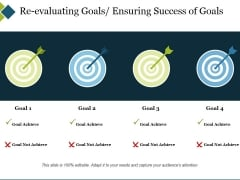 Re Evaluating Goals Ensuring Success Of Goals Ppt PowerPoint Presentation Slides Layout