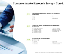 Reach Your Target Audience Consumer Market Research Survey Taxes Summary PDF