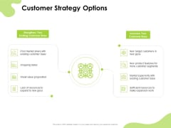 Reach Your Target Audience Customer Strategy Options Ppt Slides Images PDF