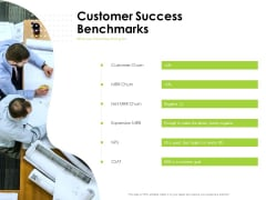 Reach Your Target Audience Customer Success Benchmarks Infographics PDF