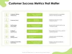 Reach Your Target Audience Customer Success Metrics That Matter Sample PDF