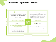 Reach Your Target Audience Customers Segments Matrix Marks Guidelines PDF