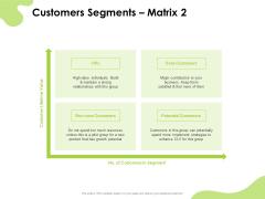 Reach Your Target Audience Customers Segments Matrix Microsoft PDF