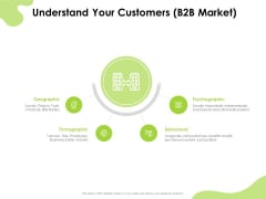 Reach Your Target Audience Understand Your Customers B2B Market Ideas PDF