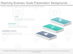 Reaching Business Goals Presentation Backgrounds