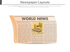 Read News Paper For World News Powerpoint Slides