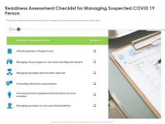Readiness Assessment Checklist For Managing Suspected COVID 19 Person Microsoft PDF