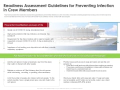 Readiness Assessment Guidelines For Preventing Infection In Crew Members Topics PDF