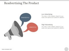 Readvertising The Product Ppt PowerPoint Presentation Diagrams
