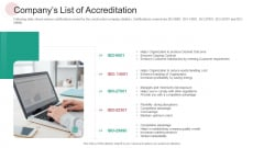 Real Capital Market Bid Assessment Companys List Of Accreditation Sample PDF