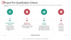Real Capital Market Bid Assessment Project Pre Qualification Criteria Themes PDF