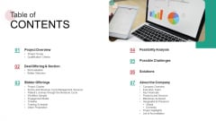 Real Capital Market Bid Assessment Table Of CONTENTS Inspiration PDF