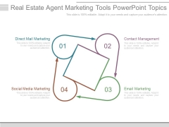 Real Estate Agent Marketing Tools Powerpoint Topics