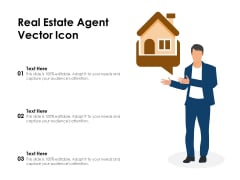 Real Estate Agent Vector Icon Ppt PowerPoint Presentation File Slide PDF