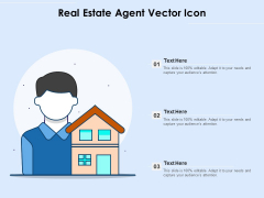 Real Estate Agent Vector Icon Ppt PowerPoint Presentation File Structure PDF
