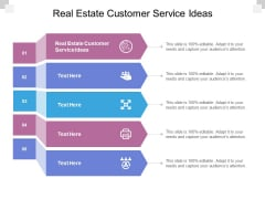 Real Estate Customer Service Ideas Ppt PowerPoint Presentation File Templates Cpb