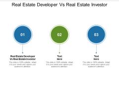 Real Estate Developer Vs Real Estate Investor Ppt PowerPoint Presentation Model Graphics Cpb Pdf